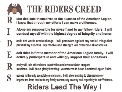 Riders Creed