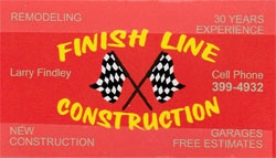 Finish Line Construction