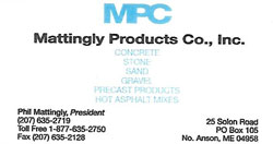 Mattingly Products Co., Inc.