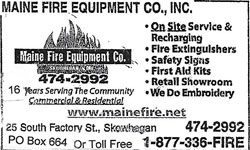 Maine Fire Equipment